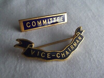 Vintage Committee Badges From Lions Club Based In Essex 1970s  • 3.50£