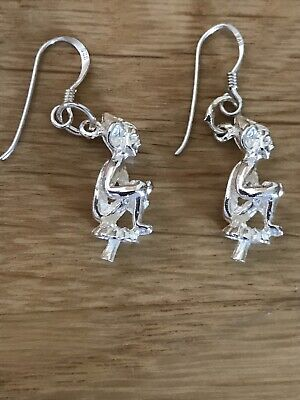 New 925 Lucky Cornish Pixie Earrings (solid) • 12£