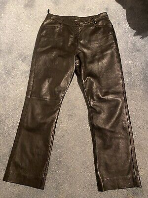 Ladies Real Leather Jeans S16 • 4.99£