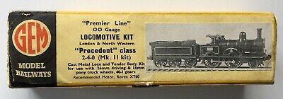 Gem Premier Line 00 Gauge Precedent 2-4-0 Locomotive & Tender Kit Box Only Good • 4£