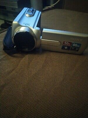 SONY HANDYCAM DCR-SR15E DIGITAL VID CAMCORDER 80GB HD 50X OPTICAL ZOOM.MINT Con • 69.99£