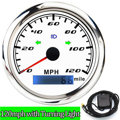 $54.77 • Buy 85mm 0-120MPH GPS Speedometer With Turning Light For Marine Boat Car Motorcycle