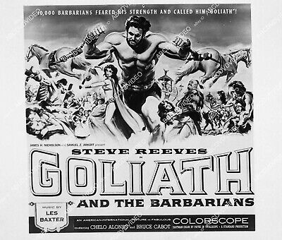 £8.58 • Buy 2175-001 Ad Slick Steve Reeves Film Goliath And The Barbarians 2175-01