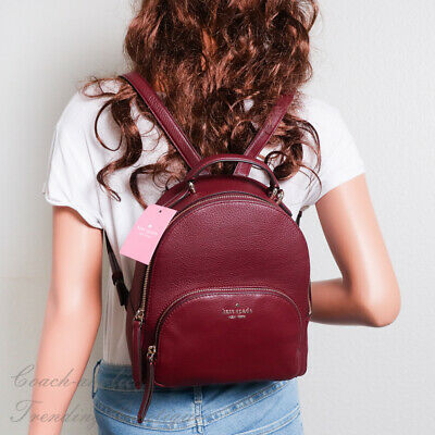 $ CDN165.80 • Buy NWT Kate Spade Jackson Medium Leather Backpack In Cherrywood