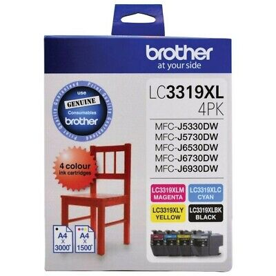 AU175.50 • Buy Brother LC 3319XL Ink Cartridges 4 Colour Value Pack