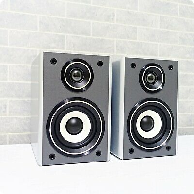 Ministry Of Sound Bookshelf Stereo Speakers 2-way Output, 6 Ohms - Black/Silver • 34.99£