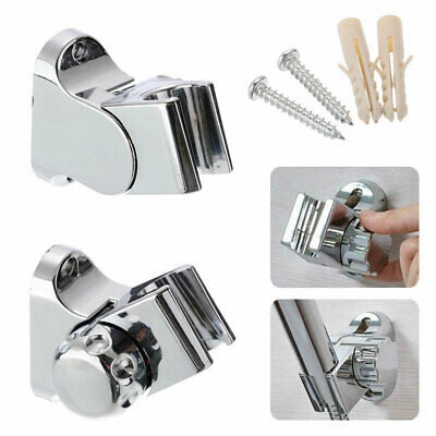 Universal Shower Head Holder Stand Chrome Bathroom Wall-Mount Adjustable Bracket • 5.06£