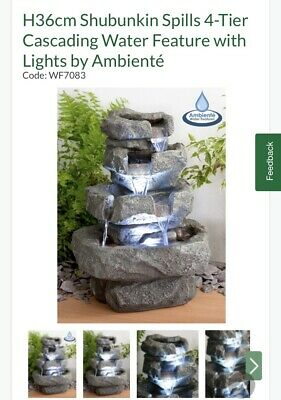 Cascading Water Feature Fountain • 59.99£