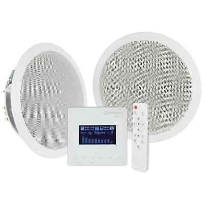 Adastra In-Wall Bluetooth & FM Radio Music System With Ceiling Speakers & Remote • 89£