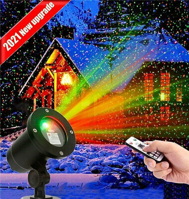 Christmas Laser R&G LED Projector Light Moving Outdoor Landscape Stage Xmas Lamp • 14.89£