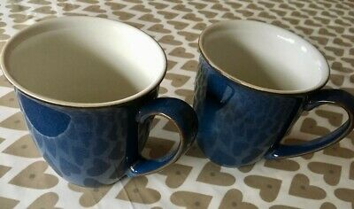 Two Denby Boston Conical Mugs / Cups X 2 12cm Discontinued GOOD CONDITION • 6.20£
