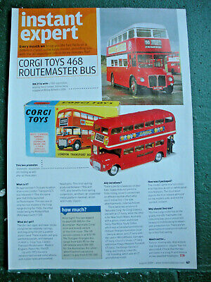 Corgi Toys Routemaster Bus 468 Instant Expert Artice 1 Page Side Information  • 2.50£