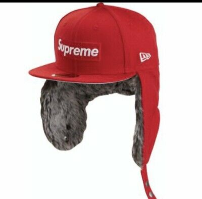 $ CDN139.23 • Buy NWT Supreme Red Earflap New Era Hat 7 3/8