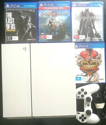 AU195 • Buy BARELY USED SONY PLAYSTATION PS4 Console 500G + CONTROLLER + 4 GAMES AU STOCK