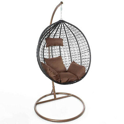 Swing Seat Chair With Stand For Gardens Bedrooms Indoor Outdoor Hanging Furnitur • 220£