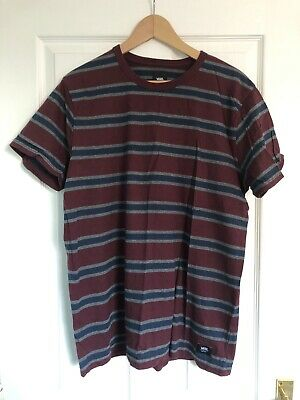 Vans Retro Striped T-shirt Size L Vintage Streetwear 80's 90's Off The Wall • 15£