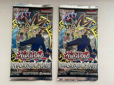 Yu-Gi-Oh Invasion Of Chaos Booster Pack Sealed VINTAGE IOC 000 ? Dragon Cards X2 • 27.95£