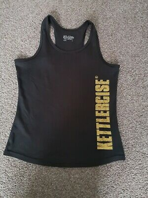 Women's Gym Top Bodybuilding Y-Back Muscle Fitness Vest Kettlercise Size S • 3£