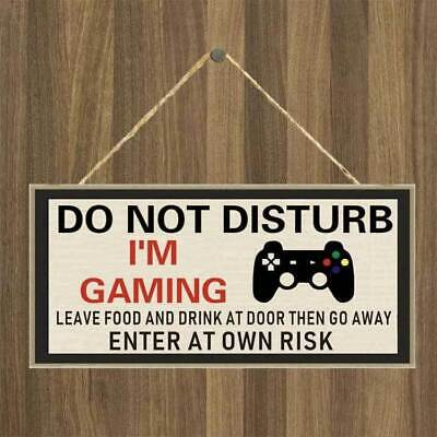 £3.50 • Buy Gamer Door Sign Gift Playstation Gifts For Boys Bedroom Accessories Man Son Gift