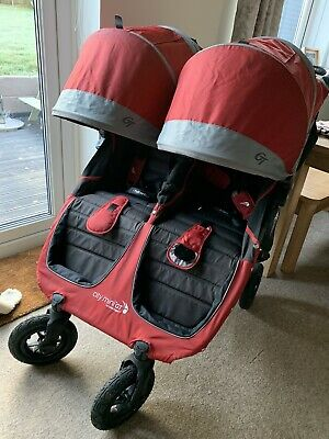 Baby Jogger City Mini Double GT Red Pram • 100£