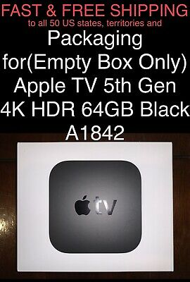 $ CDN30.25 • Buy FREE SHIP Packaging For(Empty Box Only) Apple TV 5th Gen 4K HDR 64GB Black A1842