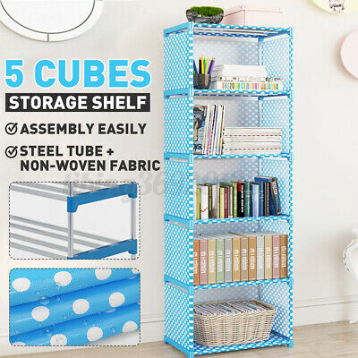 AU22.99 • Buy 5 Cube Bookshelf Bookcase Book Closet Storage Garment Rack Display Rack Stand
