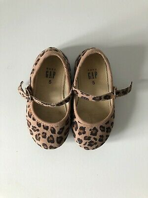 BABY GAP Leopard Print Dolly Shoes Infant Size UK 4 - Good Condition  • 3.50£