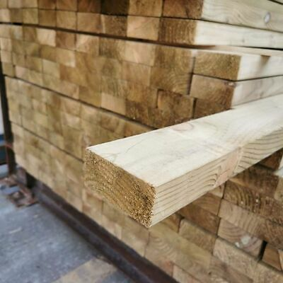 £14.50 • Buy C16 Timber Pressure Treated Green . 47mm X 100mm X 4.8m (4in X 2in X 16ft)