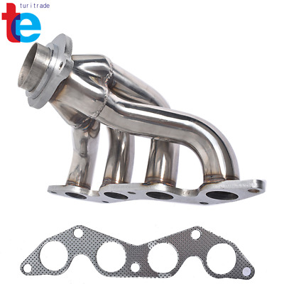 $55.56 • Buy Stainless Racing Manifold Shorty Header Exhaust For 01-05 Honda Civic EX 1.7L