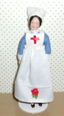 $ CDN37.89 • Buy 1:12 Scale Dollhouse Miniature 6  Handmade Nurse Porcelain Lady Doll