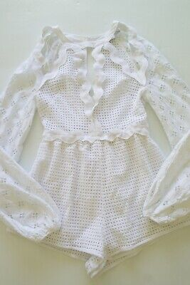AU63 • Buy Alice Mccall 'in The Night' White Lace/crochet L/s Playsuit…size 6, Eu 34…vgc...