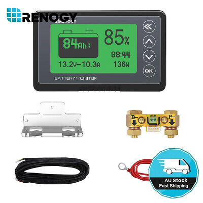 AU109.99 • Buy Renogy LCD Display Battery Monitor Capacity Voltage Wattage Meter For AGM GEL Li