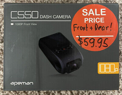 AU70.84 • Buy APEMAN C550 Dash Cam , Front And Rear Camera For Cars FHD 1080P
