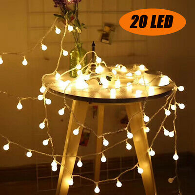 LED Ball String Fairy Lights Main Powered Party Christmas Garden Indoor/Outdoor • 5.85£
