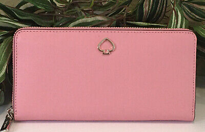 $ CDN102.06 • Buy Kate Spade Adel Large Continental Zip Wallet Clutch Carnation Pink Leather $229