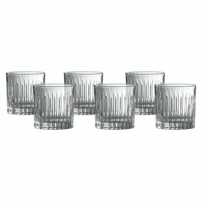 £48.50 • Buy Royal Doulton Linear Crystal Glass Tumblers 250ml, 6 Pack *FREE DELIVERY*