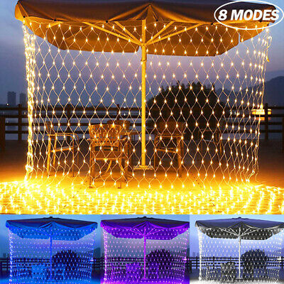 LED Net Lights Fairy String Light Outdoor Wedding Christmas Tree Garden Decor UK • 12.49£