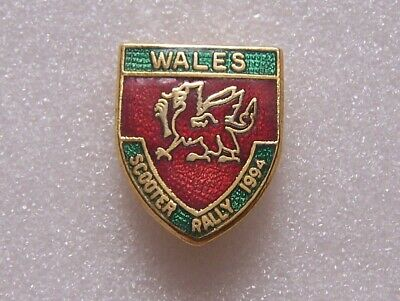 Wales Scooter Rally Pin Badge 1994 • 3£