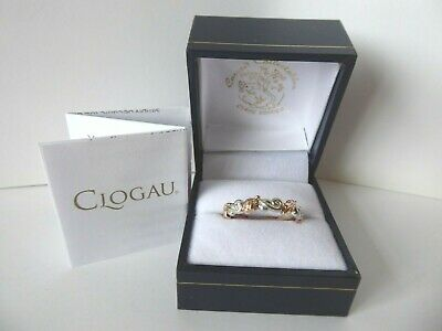 Clogau Gold, Silver & 9ct Rose Gold Royal Oak Ring, Size Q 1/2 RRP £320 • 158£