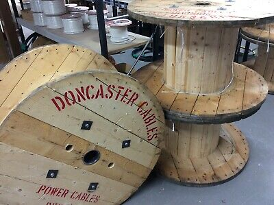 £20 • Buy Wooden Cable Drum Large Double Walled To Create Rustic Upcycle Furniture *SALE*