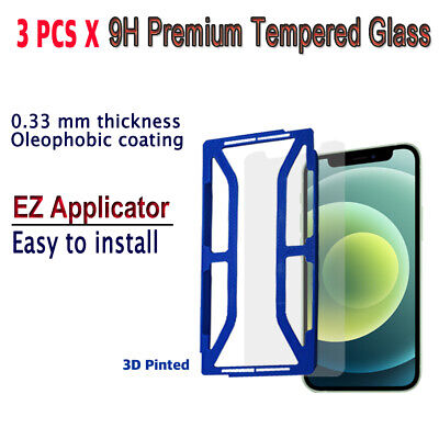 AU10.23 • Buy 3pcs X Tempered Glass Screen Protector With EZ Applicator For IPhone 12 Pro Max