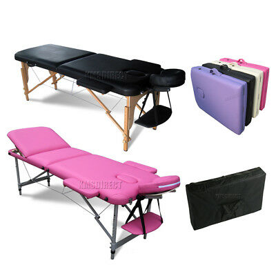KMS Portable Folding Massage Table - Beauty Salon Tattoo Therapy Couch Bed • 15£