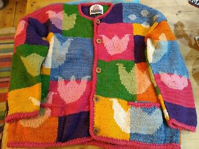 Vintage Amano Chunky Cardigan - Hand Knitted Large • 35£