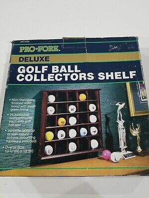 Golf Ball Display Case Wall Cabinet, NO Door,  Holds 25 Balls, 466-W402 • 18.08£