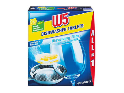 💥💥💥NEW 120 Dishwasher Tablets W5 All-In-1 High Quality Package Extra Large • 8.49£