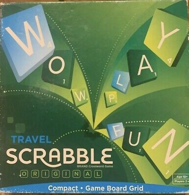 Mattel Travel Scrabble Original Board Game - Complete With Instructions • 10£