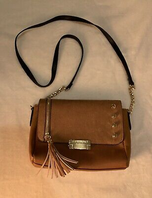 RIVER ISLAND Women's Suede Tan Stud And Tassle Cross Body Bag - New Without Tags • 25£