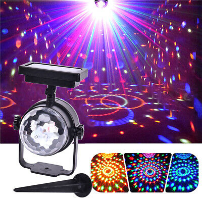 NEW Solar LED Carnival Spotlight Colour Changing Projection Stake Light Outdoor • 9.99£