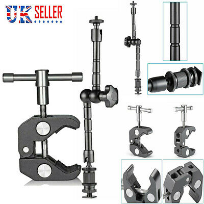 £6.84 • Buy 11inch Articulating Magic Arm+Super Clamp Crab For DSLR Camera LCD Monitor LED