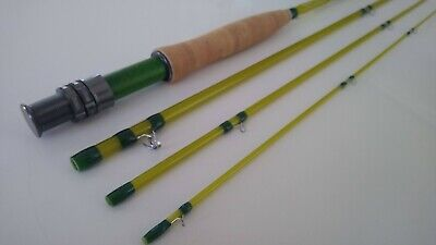 $ CDN205.55 • Buy Green Ripper -  2wt, 3wt Or 4wt  Fast, Beautiful And Accurate S-Glass 4pc Rod
